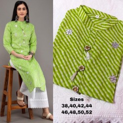 A.S.COLLECTION LEHARIYA (KURTI WITH PLAZO)